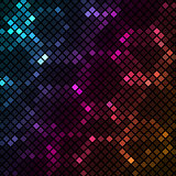 Mosaic with colourful hexagons background