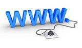 WWW symbol plugged in