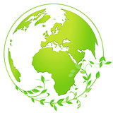green globe icon