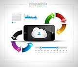 Infographic design template with cloud concept