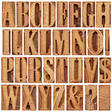 letterpress wood type alphabet