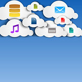 Cloud computing abstract concept with icons