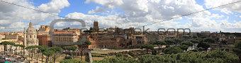 panorama via dei fori imperiali, rome