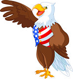 Patriotic American Eagle