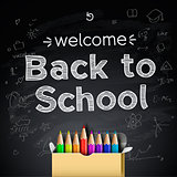 Back to school background, vector Eps10 illustration.