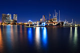 marina at night in Southport, Gold Coast, QLD, Australia