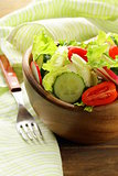 fresh spring salad with tomatoes and cucumber