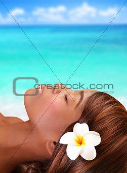 Black woman on the beach