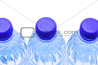 Close Up of Water Bottles