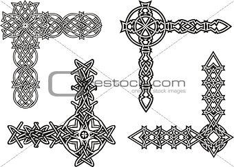 Celtic decorative knot corners