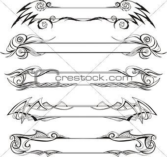 Slim decorative frames
