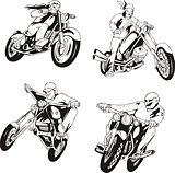 Set of bikers