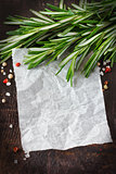 Recipe paper.