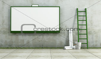 Blank street advertising billboard