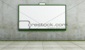 Blank street bilboard on dirty wall