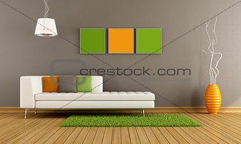 Colorful modern living room