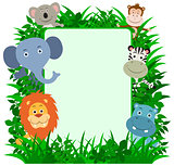 Jungle Animals Frame