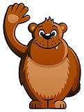 Cartoon Bear Waving Hand