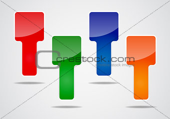 Abstract colorful blank labels