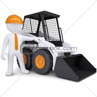 3d white man near the truck
