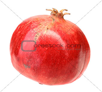 Full fresh red pomegranate