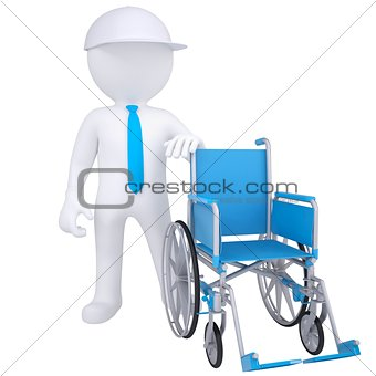 3d white man got rid of the wheelchair