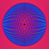 Blue Sphere on Pink