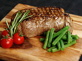 Delicious sirloin steak dinner