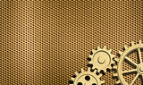 golden background with few gears
