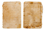vintage book or copybook cover isolated on white