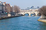 panorama with Pont Neuf in Paris