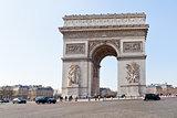 Triumphal Arch de l' etoile in Paris