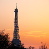 eiffel tower in Paris on sunset