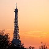 eiffel tower in Paris on sunset