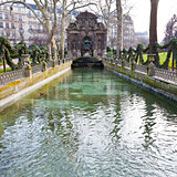 Medici Fountain in luxembourg garden in Paris
