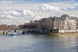 Seine river and Pont Louis-Philippe in Paris