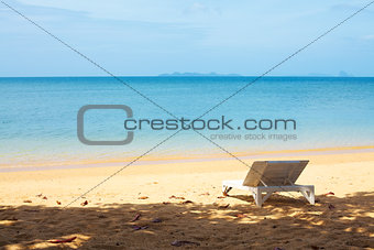 Chaise lounge on a beach