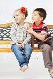 Children on bench