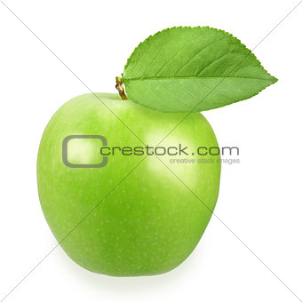 Single a green apple
