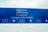German highway sign