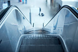 Escalator in airport