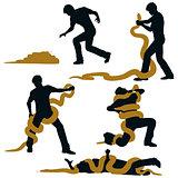 Snake wrestler