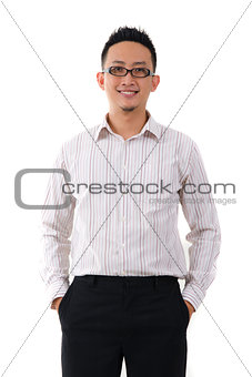 asian chinese business male in formal isolated on white backgrou
