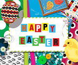 Easter cellebration collage card
