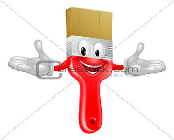 Paint brush mascot