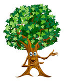 Tree man pointing illustration