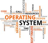 word cloud - operating system