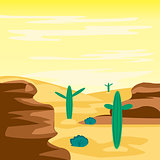 Desert and cactuses