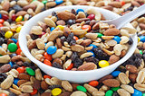 Trail Mix in White Bowl