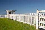 White beach hut